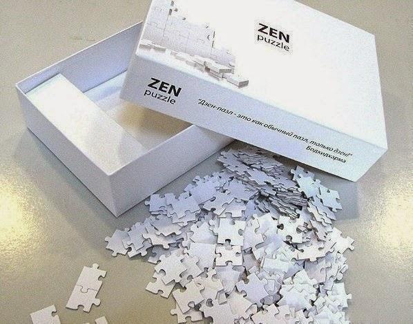 белые пазлы zen