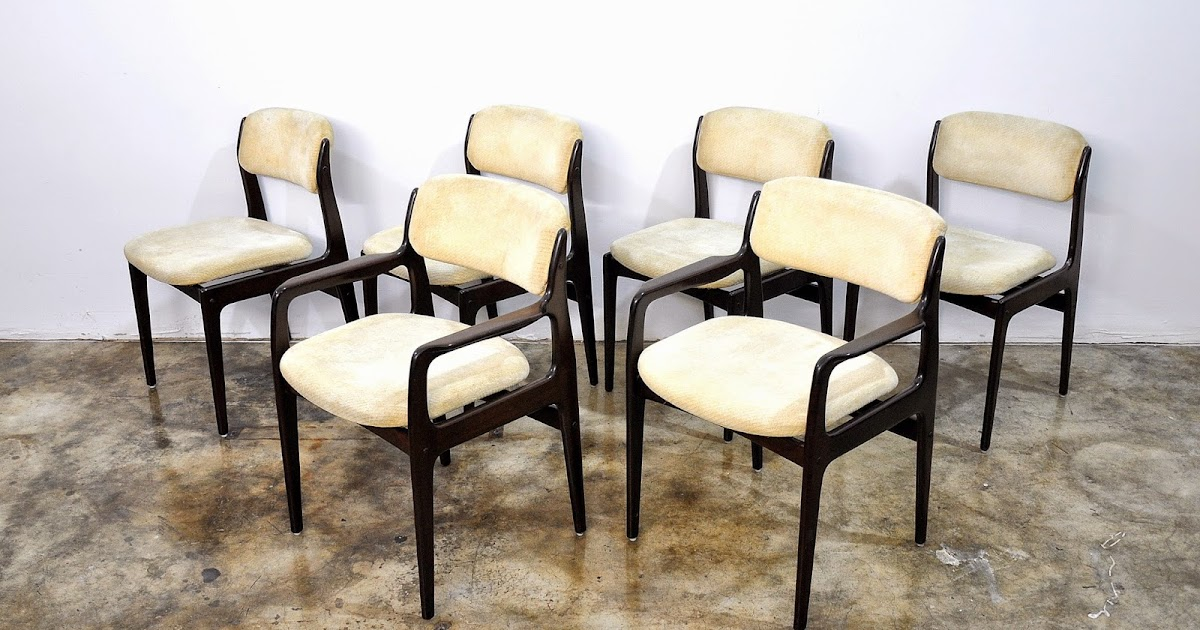 Select Modern Set Of 6 Benny Linden Rosewood Dining Chairs