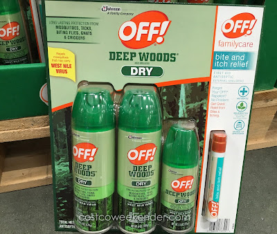 Off! Deep Woods Dry Insect Repellent - Forgot your repellent? No problem, get quick relief from bites and itching