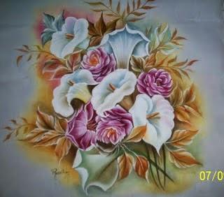 Manualidades Y Mas Mas Flores Para Pintar En Tela
