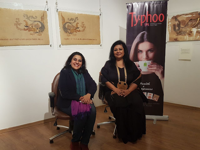 Curator Amrita Varma and artist Bipasha Sen Gupta at the event