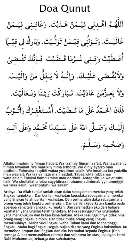 Hukum Doa Qunut Subuh Nazilah Imam Pendek Wajib Atau Sunnah