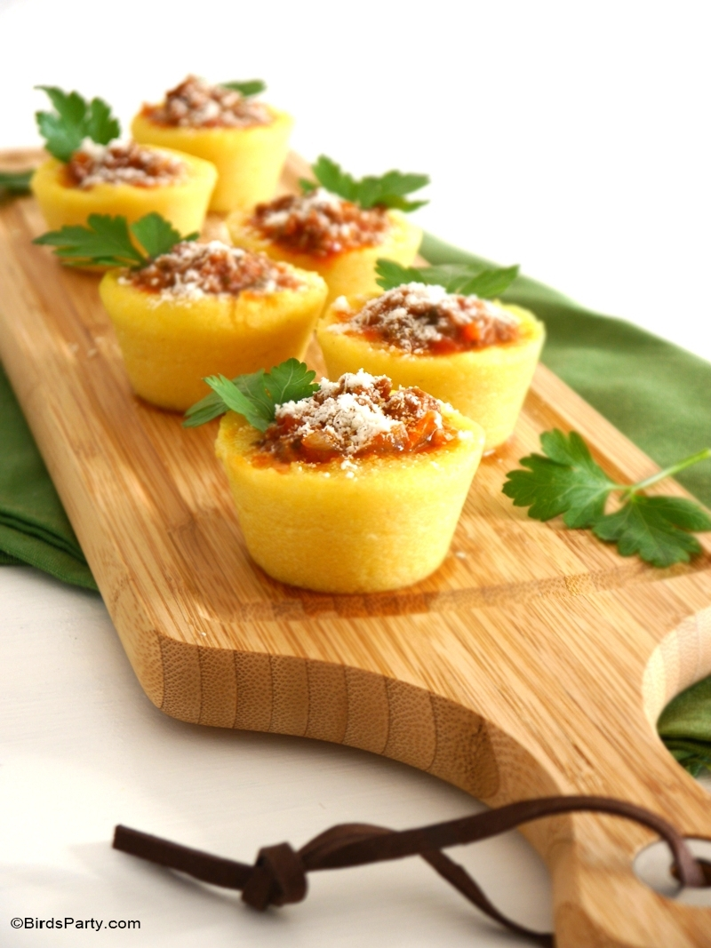 Party Food | Gourmet Polenta Bologenese Cups Recipe