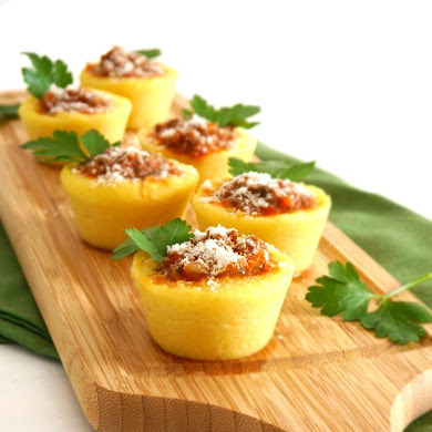Party Food | Gourmet Polenta Bologenese Cups Recipe