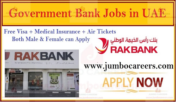 Government Banking Jobs in UAE, Semi Government jobs in UAE,