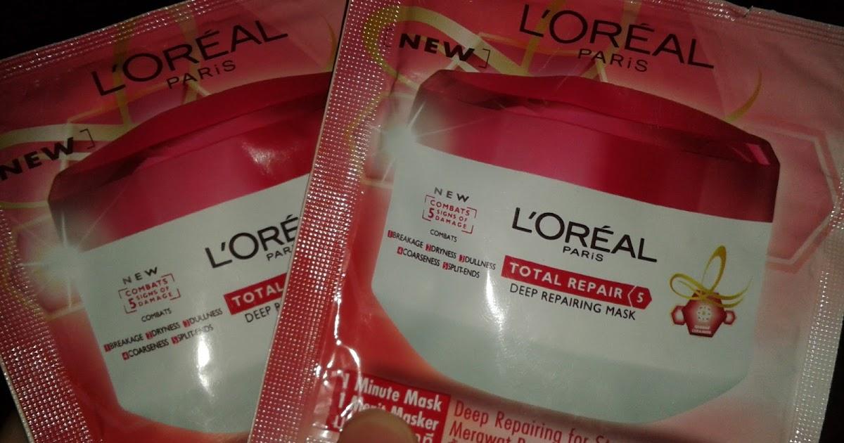 L 39 Oreal Total Repair Shampoo And Mask