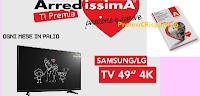 """Logo Concorso ''Arredissima ti premia'': vinci 10 televisori 49"""" LED 4K + catalogo gratis"""