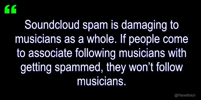 Soundcloud Spam