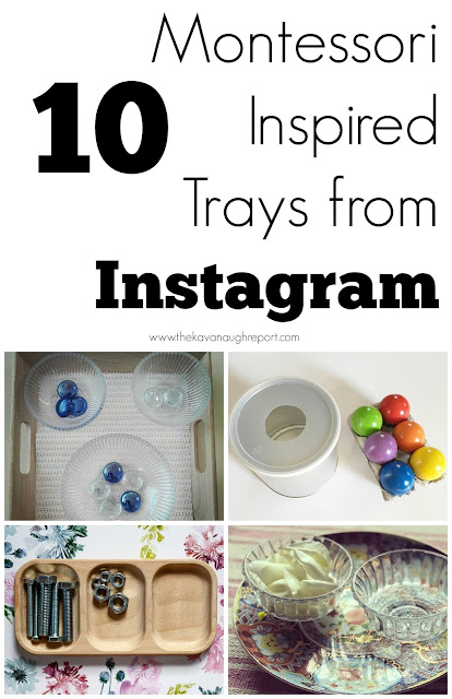 10 Montessori inspired trays from Instagram
