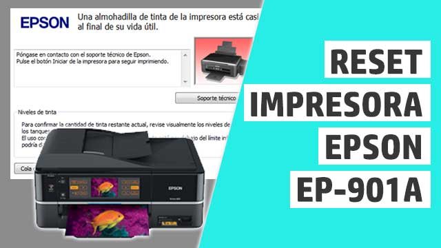 resetear almohadillas impresora Epson EP901A