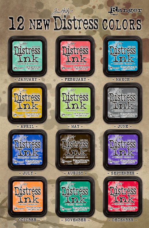 Tim Holtz 12 new colors of Distress Ink 2015