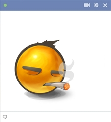 Facebook Weed Emoticon Smoking A Joint