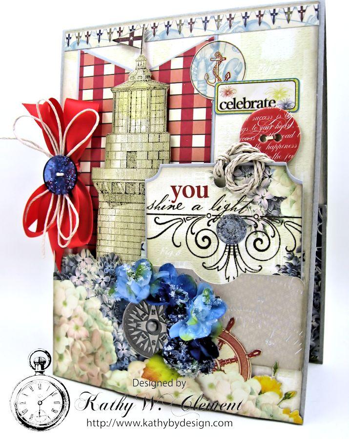 Really Reasonable Ribbon Blog You Shine Lighthouse Birthday Card