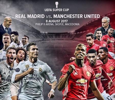 Assistir Real Madrid x Manchester United AO VIVO 08/08/2017 - Supercopa da Europa
