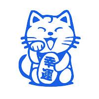 Maneki-neko-colores-azul