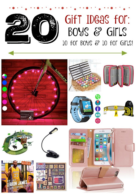 20 Holiday Gift Ideas for Boys & Girls...hand-picked Christmas gifts, 10 for boys and 10 for girls!  Eveyrthing from electronics to educational toys to crafts to beauty items. (sweetandsavoryfood.com)