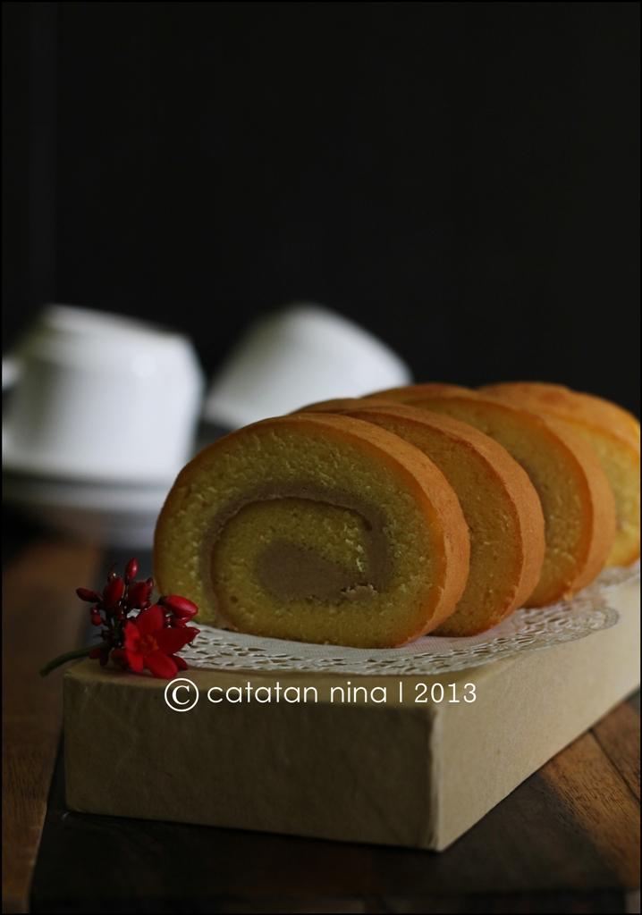 Vanilla Roll Cake Catatan Nina