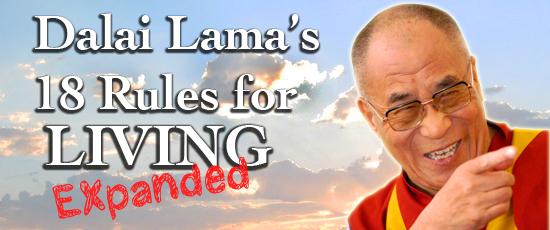 Dalai Lama 18 Rules Living