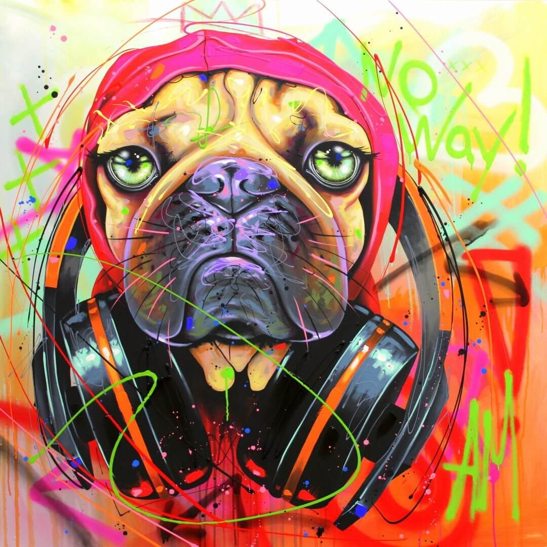 03-French-Bulldog-Frenchie-Andrea-Marqui-Bright-Paintings-of-Animal-Portraits-www-designstack-co