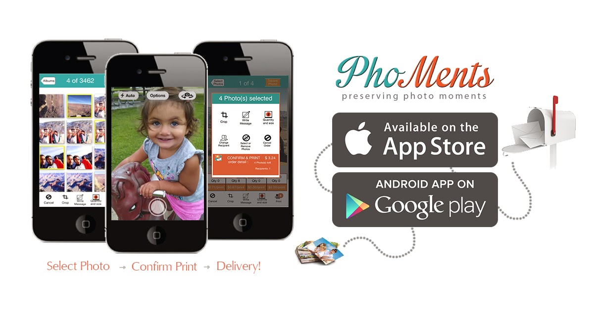 Get The Photos From Your Phones Printed & Delivered with PhoMents