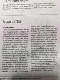 Publicación Diario Clarín Viajes Florencia Gonzalez Bazzano