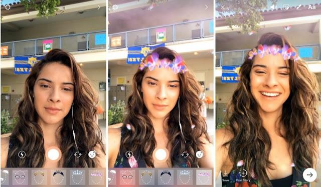 Filtros de Snapchat ahora en Instagram