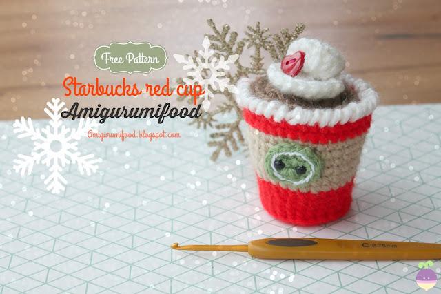 Amigurumi Starbucks : Amigurumi Food: Starbucks red cup amigurumi Free pattern