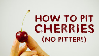how to remove seed inside a cherry very easily