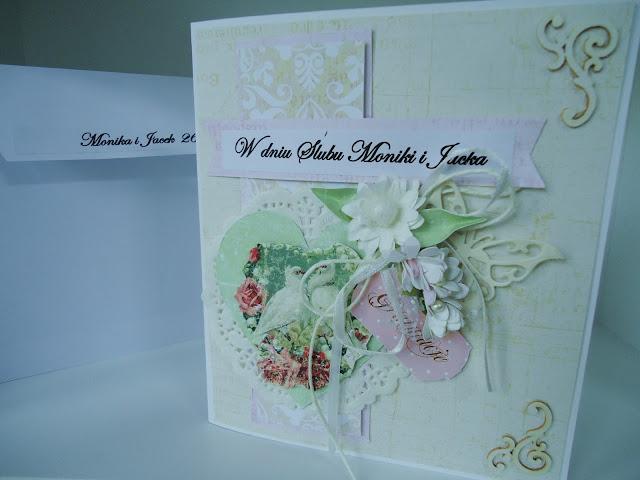 kartka z białymi gołębiami