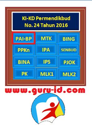 gambar KI & KD PAI dan Budi Pekerti SMP Kurikulum 2013 Revisi 2017 terbaru