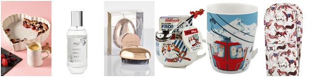 Next Crumble Dish, M&S room spray, Cath Kidston mugs, Kelloggs bowl, Next hairbrush