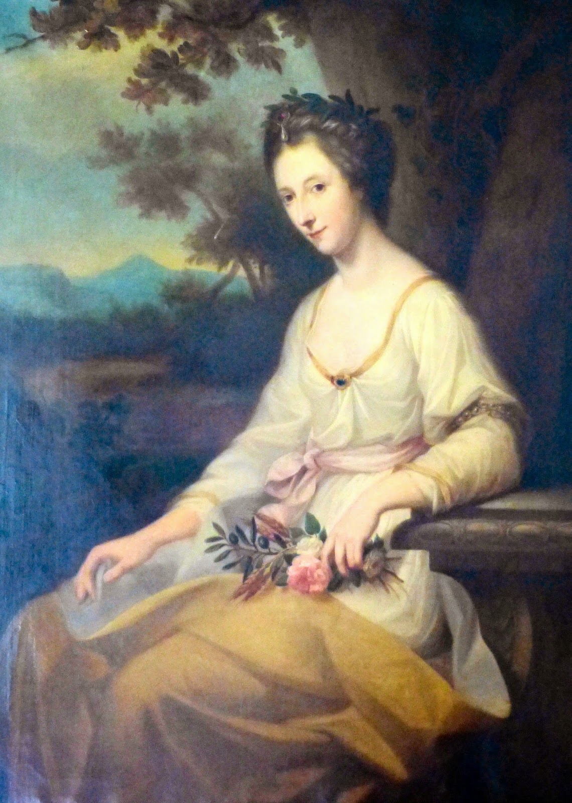 Anne Seymour Damer after Angelica Kauffman (c1800)