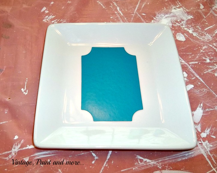 Vintage Paint and more... stenciling on plates painting on plates & Painted Ceramic Plate Sign | Vintage Paint and more...