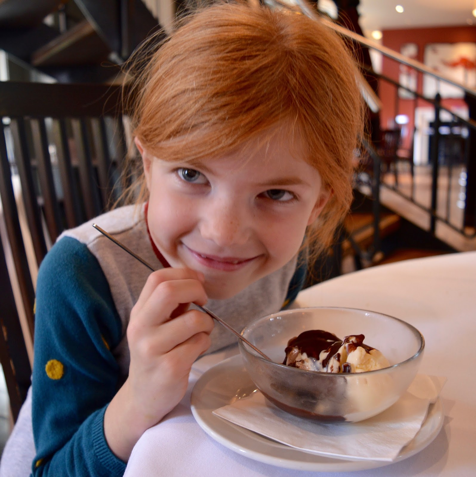 Family Sunday Lunch at The Cherry Tree Restaurant, Jesmond | A Review  - children's ice cream dessert