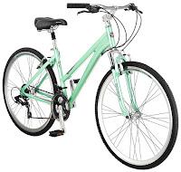 "Women's Schwinn Siro Hybrid Bicycle 700c, 16"" frame, front shock absorber, spring suspension seat post, swept-back handlebars, 21 speeds"
