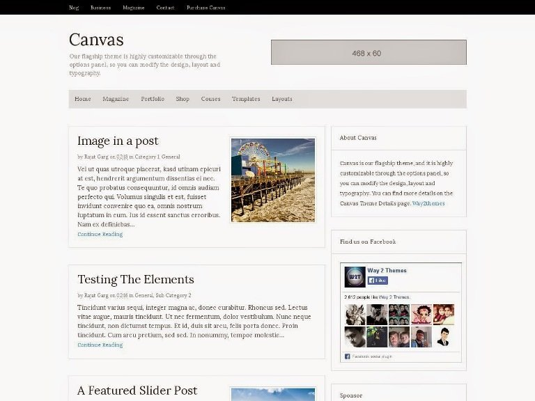Template Blogger Niche Canvas