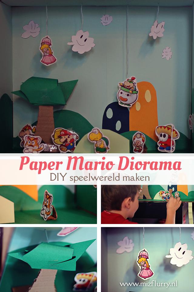 Paper Mario Diorama -DIY speelwereld maken