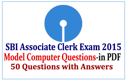 Model Computer Questions for SBI Associate Clerk exam
