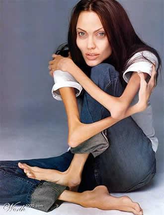 image Culo adolescente en jeans blancos ella no tiene ropa interior