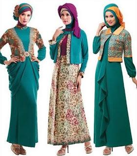 Busana Muslim Batik Modern Model Terbaru dan Terbaik Untuk Trend Fashion Tahun Ini
