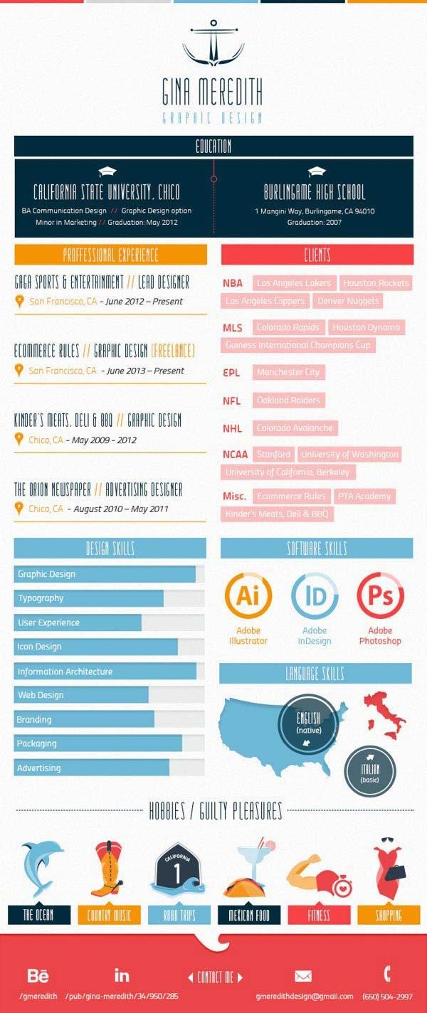 Lifeclever ; Give Your Rsum A Face Lift 30 Infographic Resumes That Stand Out Jayce O Yesta