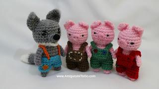 Amigurumi To Go Crochet Along Pig : Big Bad Wolf ~ Amigurumi To Go