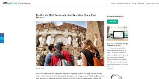 TripAdvisor Experiences: The World's Most Successful Tour Operators Share Their Secrets