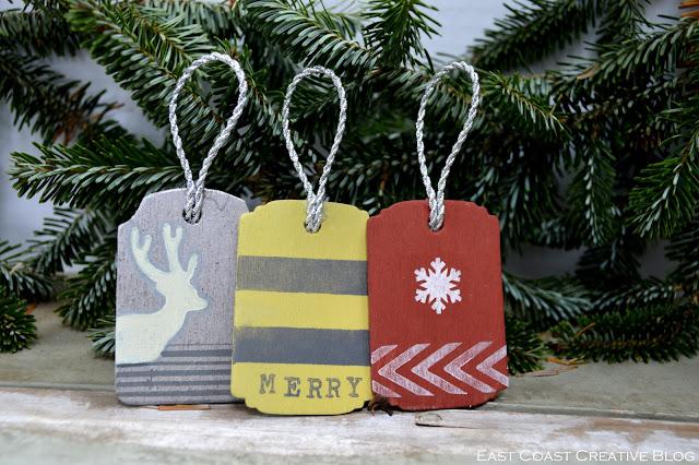 Christmas tag ornaments