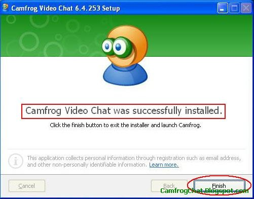 Install Camfrog 6.4 Finish