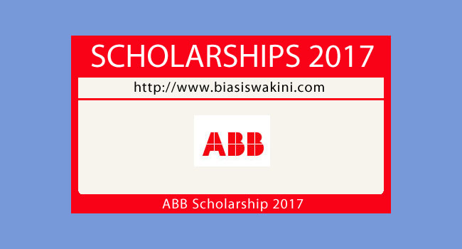 ABB's Master'Degree Scholarship Program 2017