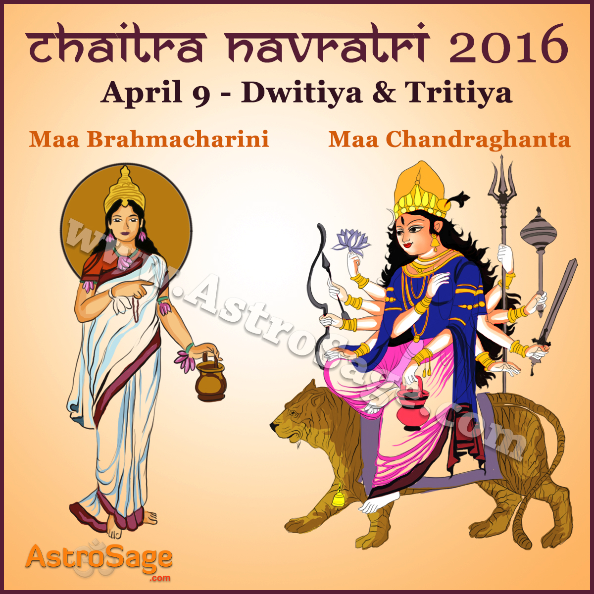 Navratri Dwitiya and Tritiya are occurring on the same day.