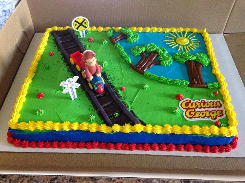 Curious george train cake walmart pictures to pin on for Curious george cake template