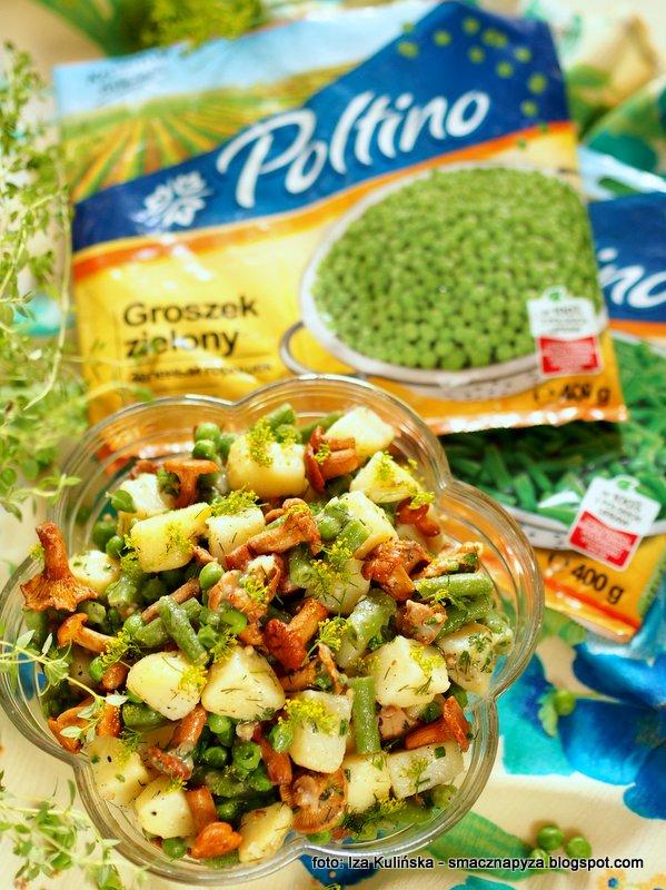 ziemniaki, groszek zielony, fasola szparagowa, zielone warzywa, mrozonki, poltino, salatki ziemniaczane, najsmaczniejsza, salatka kartoflana