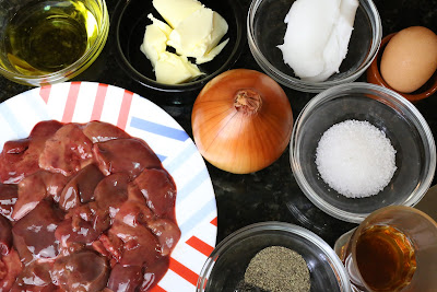 Ingredientes para paté de higaditos de pollo